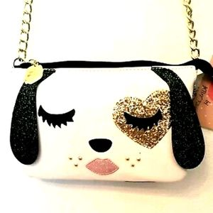 💕Betsy Johnson Dog Crossbody Purse